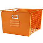 Orange Metal Locker Basket