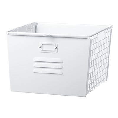 Saved by the Cube Bin Locker Basket (White)