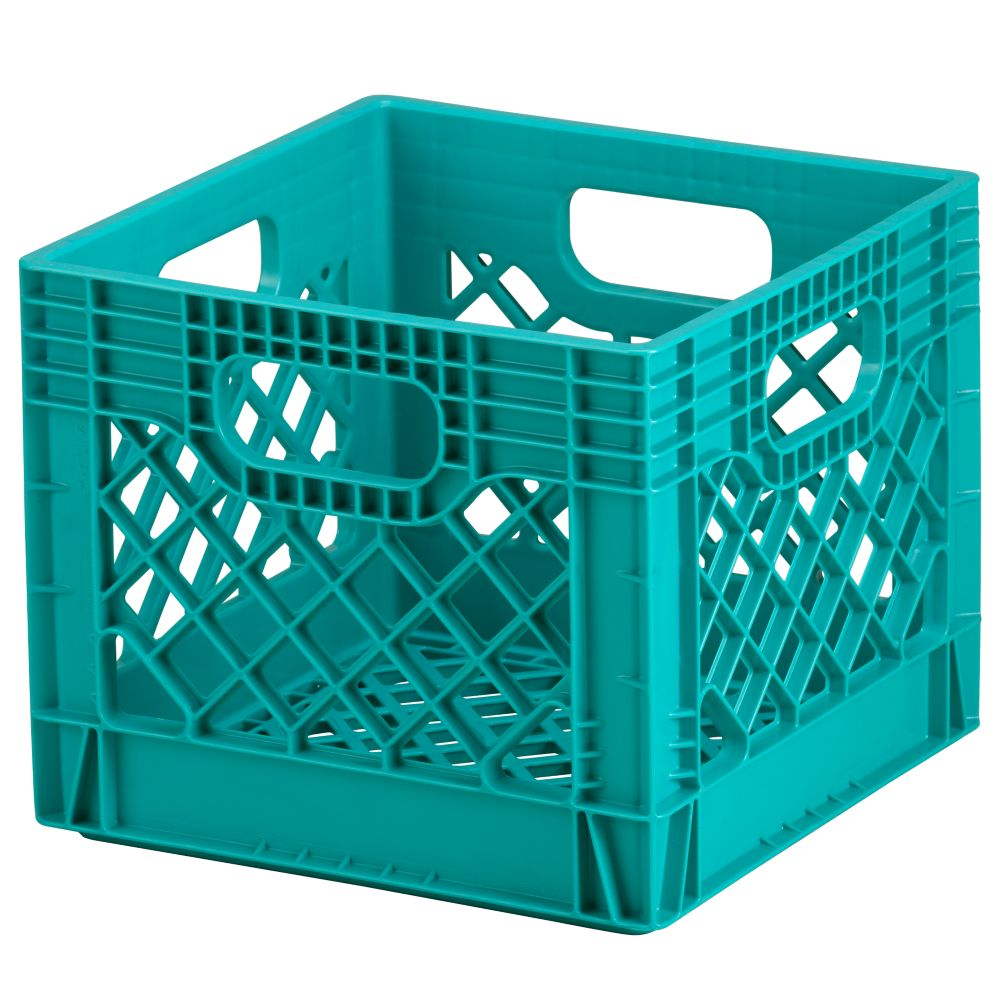 Blue Milk Crate Storage