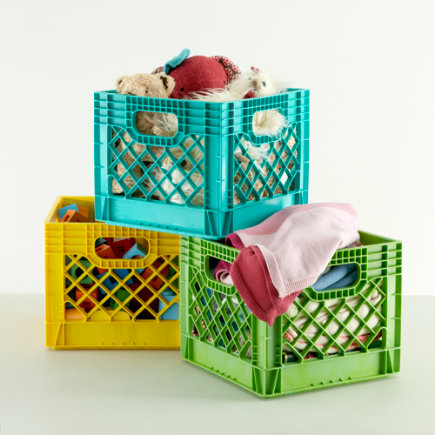 Kids Storage: Colorful Milk Crates for Kids - Yellow Milk Crate