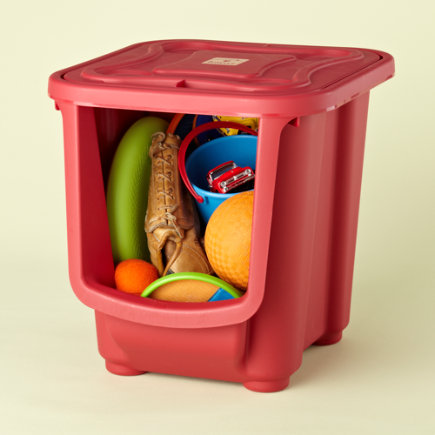 Kids Storage: Kids Red Modular Storage Bin - Small Red Modular Storage Bin