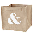 & Ampersand Store By Numbers Cube Bin