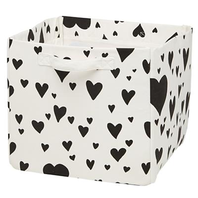 Love Struck Cube Bin (Black)