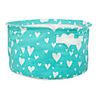 Aqua Love Struck Round Floor Bin