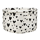 Black Love Struck Round Floor Bin