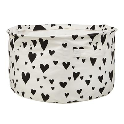 Love Struck Round Floor Bin (Black)