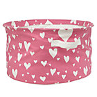 Pink Love Struck Round Floor Bin
