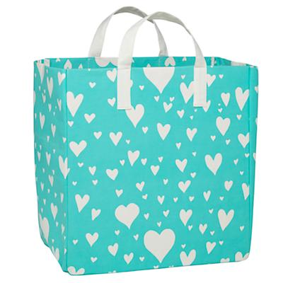 Love Struck Floor Bin (Aqua)