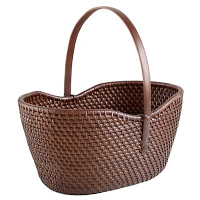 Rattan I Am Traditional Basket (Espresso)
