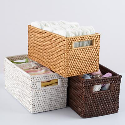 Rattan I Am Small Changer Basket