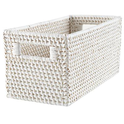 Rattan Small Changer Basket (White)