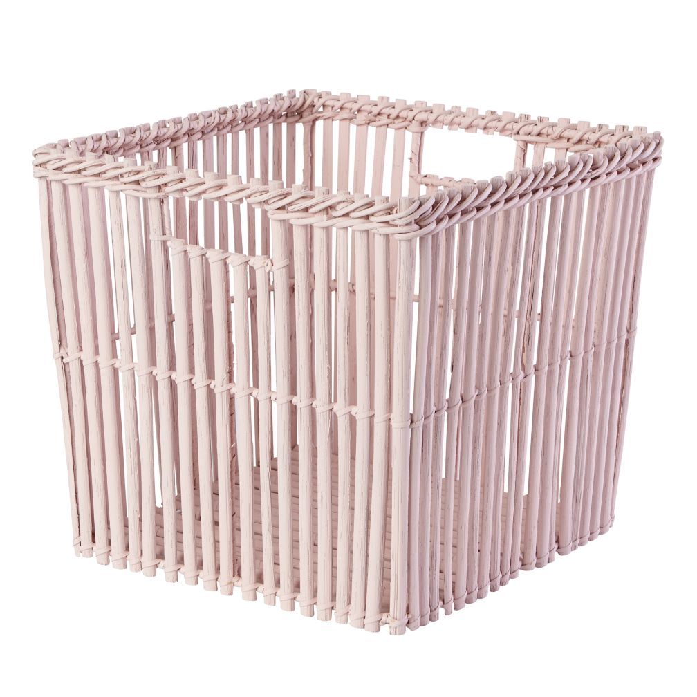 Reed Between the Cube Basket (Lt. Pink)
