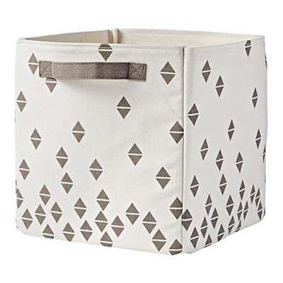Scatter Print Floor Bin (Grey Diamonds)