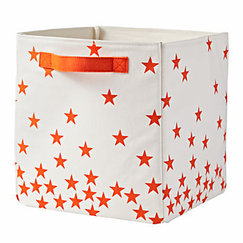 Scatter Print Small Bin (Orange Stars)