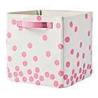 Pink Dots Scatter Print Small Bin