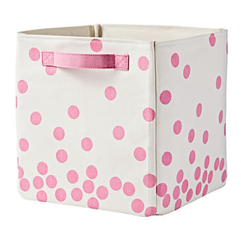 Scatter Print Small Bin (Pink Dots)