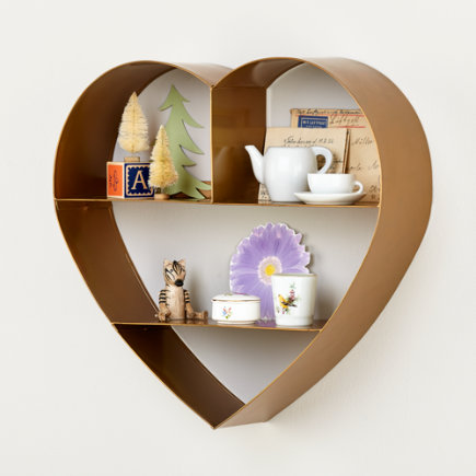 - Heart of Gold Wall Shelf