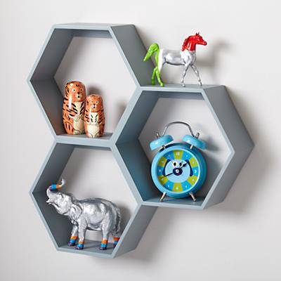 Honeycomb Wall Shelf (Grey)