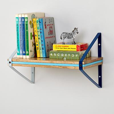 Tricolor Wall Shelf (Blue)