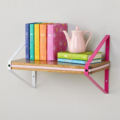 Tricolor Wall Shelf (Pink)