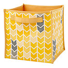 Yellow Chevron Cube Bin