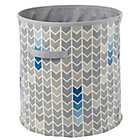 Grey Chevron Floor Bin