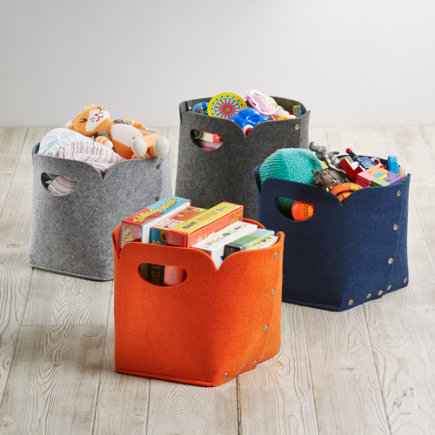 Aw Snap Cube Storage Bin - Orange Aw Snap Cube Bin