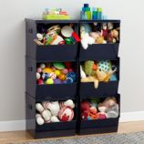 Stack Up Metal Bins (Navy)