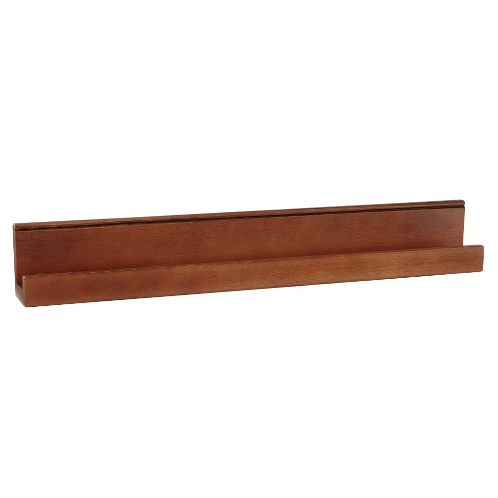 Straight & Narrow Book Ledge (Walnut)