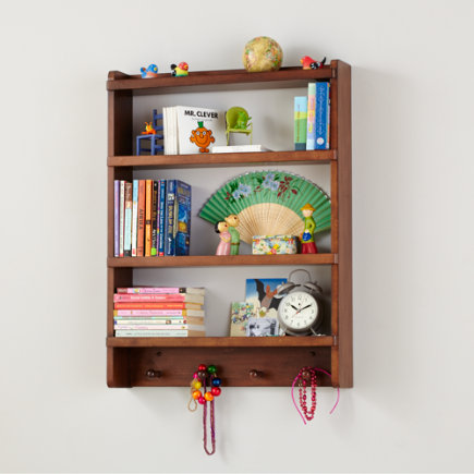 Shelves And Wall Pegs Kids Room Decor