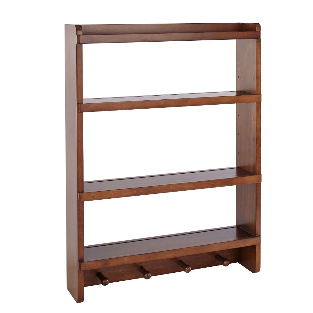 Walnut Straight & Narrow Wall Rack