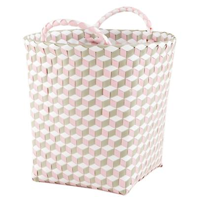 Small Strapped For Storage Bin (Pink)