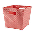 Light Pink Strapping Cube Bin