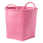 Pink Strapping Floor Bin