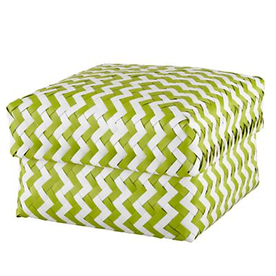 Large Zig Zag Basket (Green)