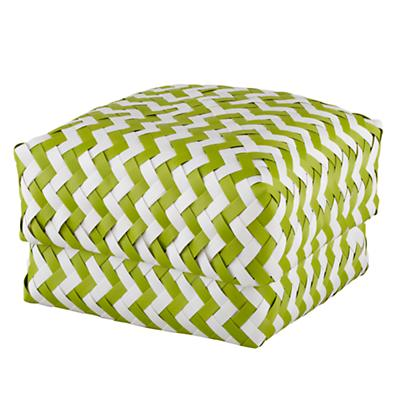 Medium Zig Zag Basket (Green)