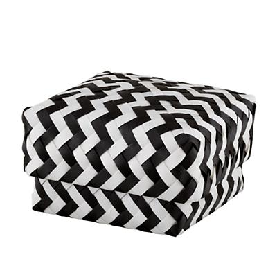 Small Zig Zag Basket (Black)
