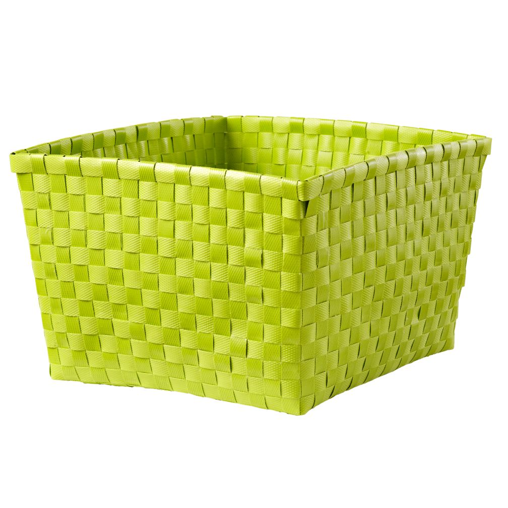 Strapping Shelf Basket (Lime Green)