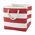 Red Stripes Around the Cube Bin
