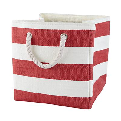 Stripes Around the Cube Bin (Red)