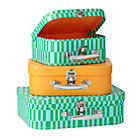 Green Bon Voyage Suitcases Set of 3