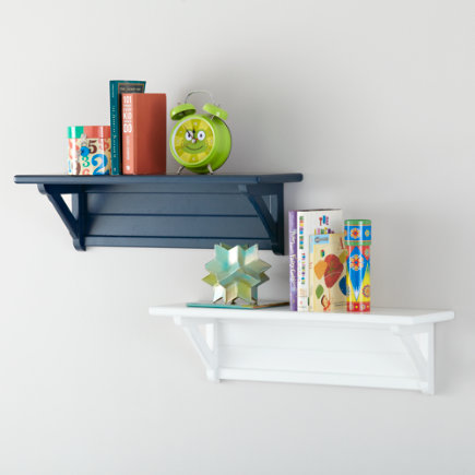 Wall mounted shelving kids room decor for Wall shelves kids room