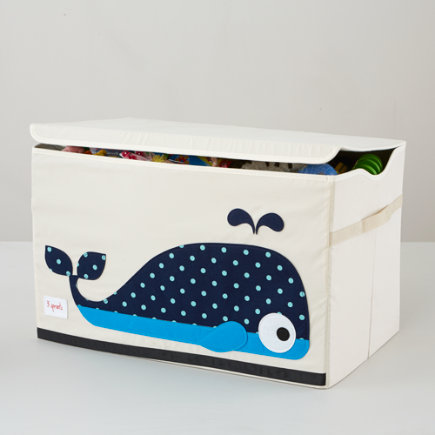 Whale Toy Box - Canvas Whale Toy Chest