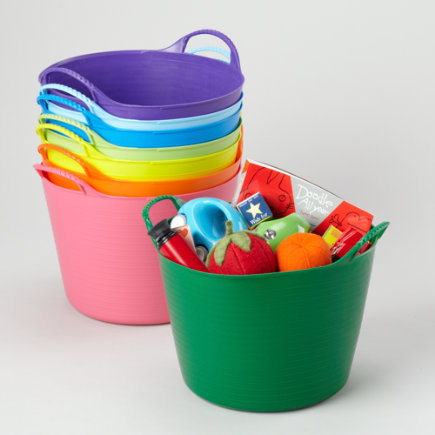 Kids Storage: Kids Outdoor Small Tub Storage - Small Dk
