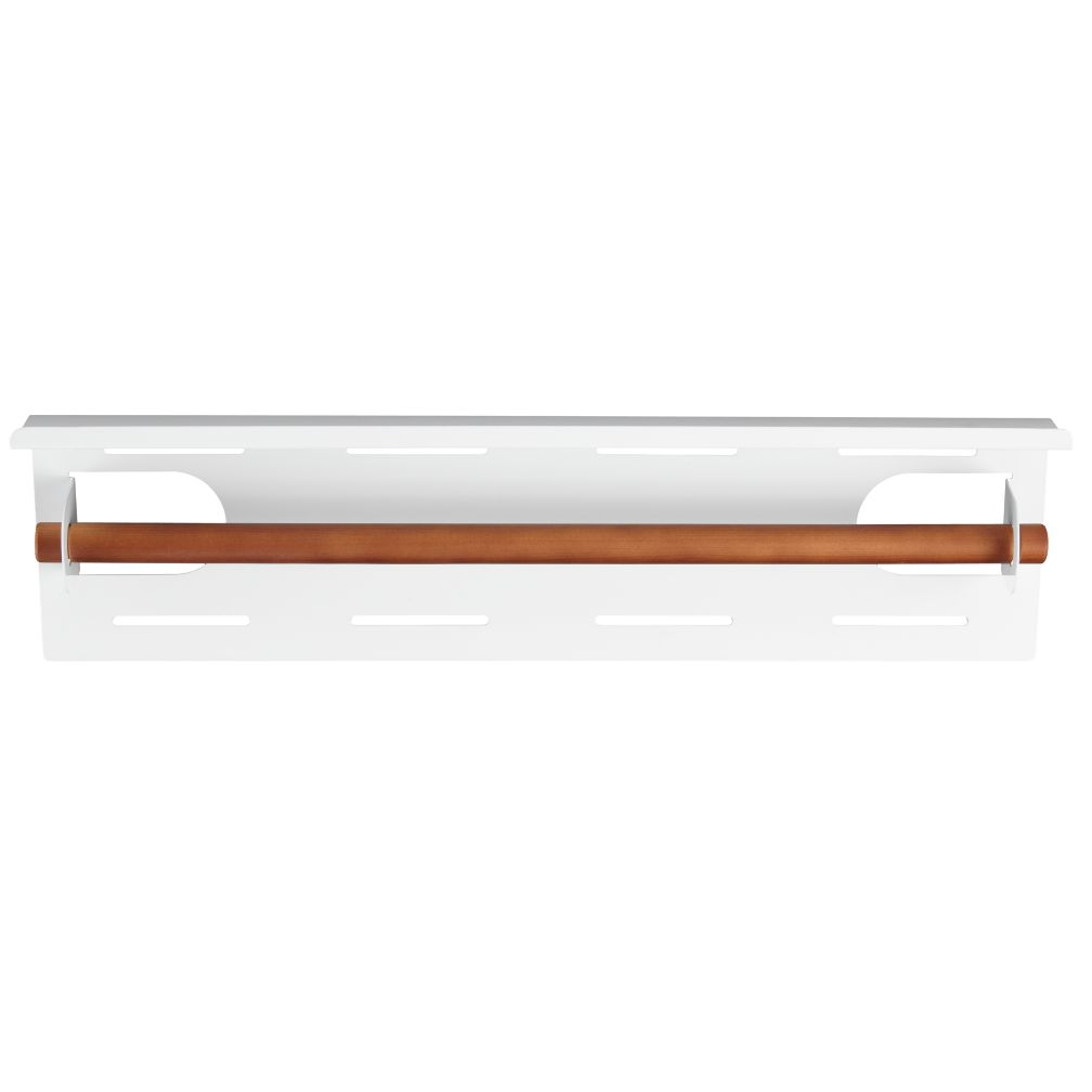 Up Against the Wall Bin Paper Holder (White)