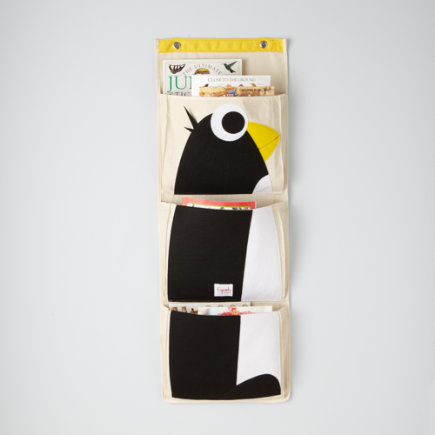 Kids Storage: Kids Wall Pocket Organizer - Penguin Wall Organizer
