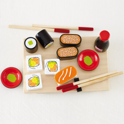 Kids Wooden Sushi Play Food Set - Sushi Play Set