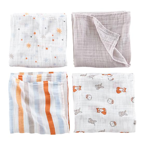 Forest Friends Swaddling Blankets | The Land of Nod