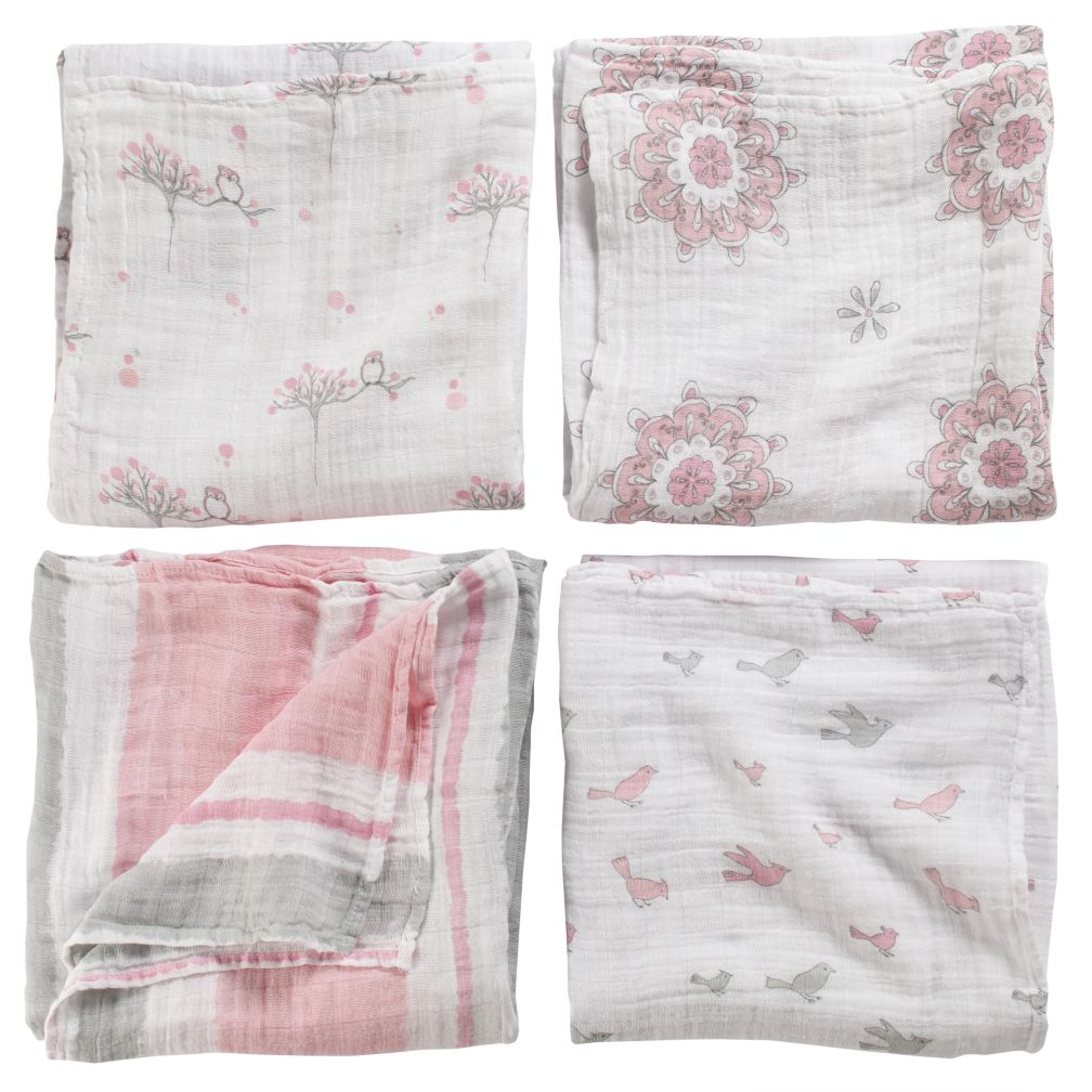 For the Birds Swaddle Blankets