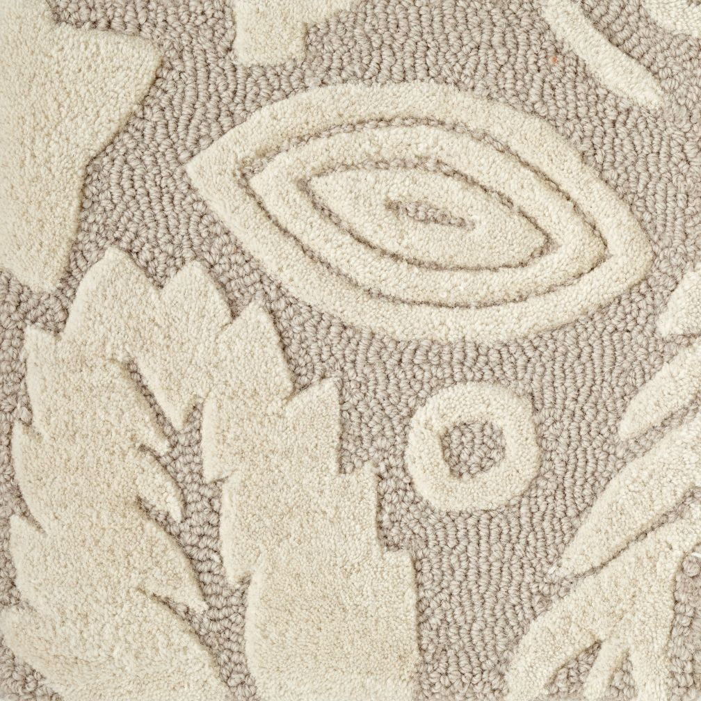 Forest Floor Grey Rug Swatch